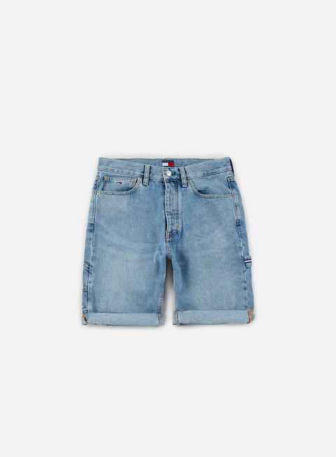 pantaloni tommy hilfiger tj 90s tommy carpenter short mid stone wash