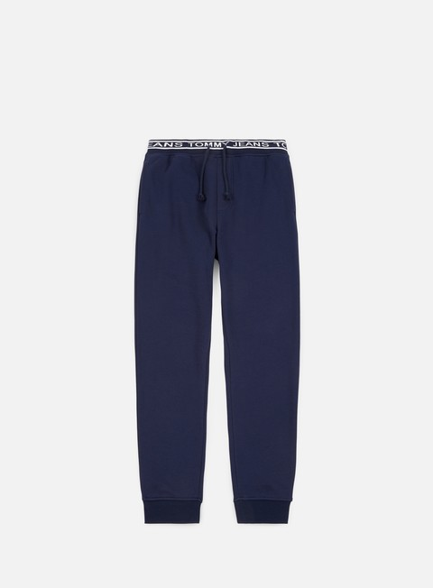 pantaloni tommy hilfiger tj rib logo sweatpant black iris