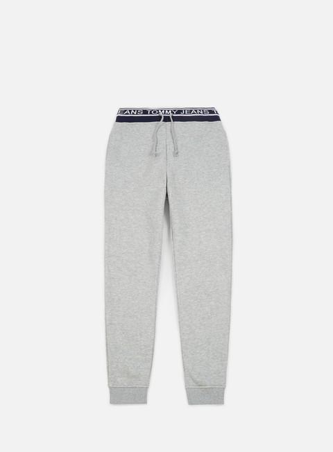 pantaloni tommy hilfiger tj rib logo sweatpant light grey heather