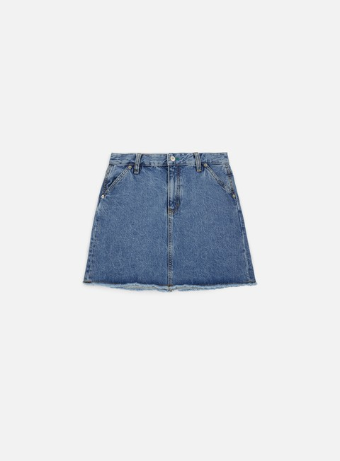 pantaloni tommy hilfiger wmns tj 90s denim skirt mid blue denim