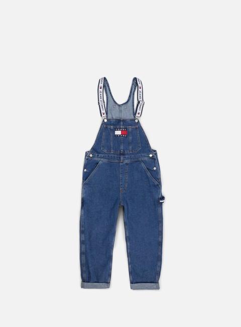 pantaloni tommy hilfiger wmns tj 90s dungaree denim blue