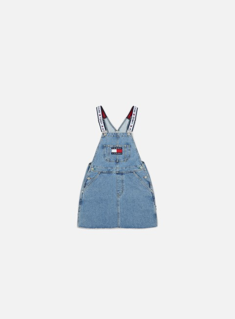 pantaloni tommy hilfiger wmns tj 90s dungaree dre light denim blue