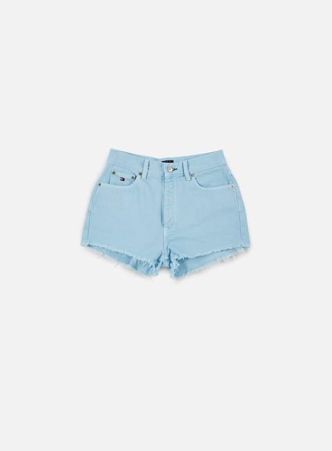 pantaloni tommy hilfiger wmns tj 90s high waist short corydalis blue