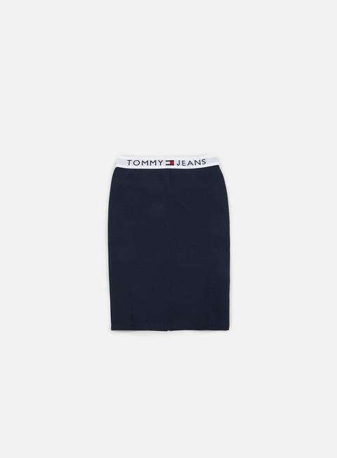 pantaloni tommy hilfiger wmns tj 90s waistband skirt medieval blue