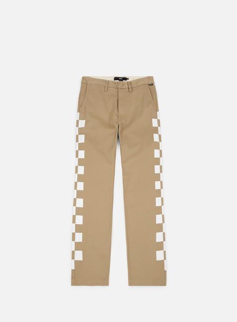 pantaloni vans authentic chino pant khaki checkerboard