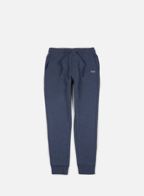 pantaloni vans core basic fleece pant dress blues heather