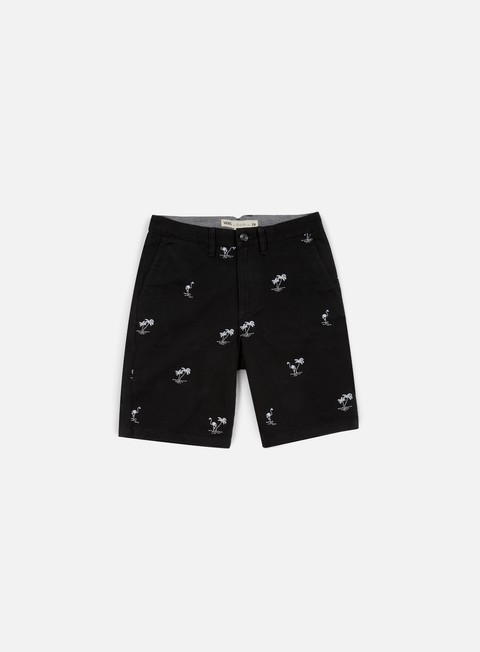 pantaloni vans dewitt monogram shorts black flocking dead