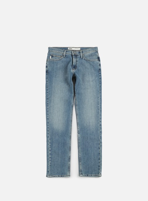 pantaloni vans v46 taper pants washed indigo