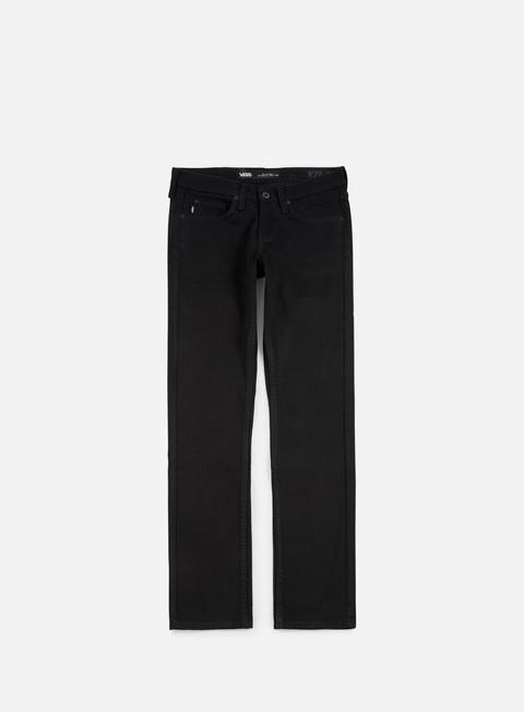 pantaloni vans v76 skinny pants overdye black