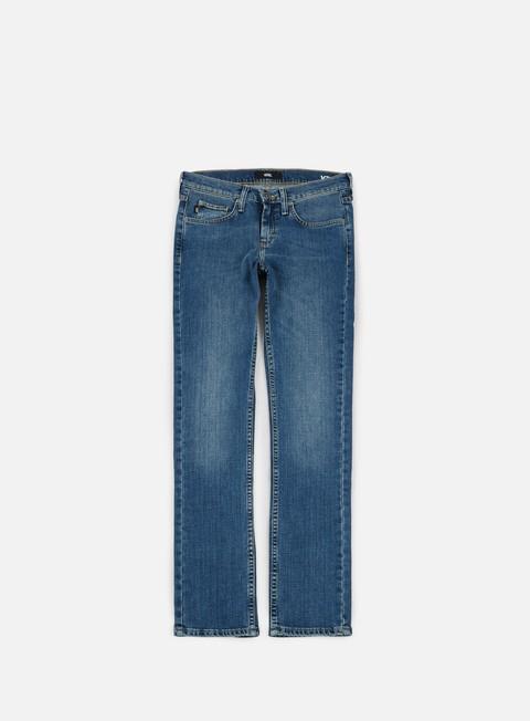 pantaloni vans v76 skinny pants vintage blue