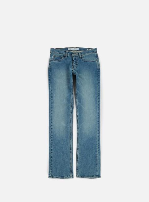 pantaloni vans v76 skinny pants washed indigo