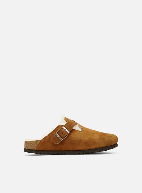 Slides Birkenstock  WMNS Boston Shearling Suede Leather