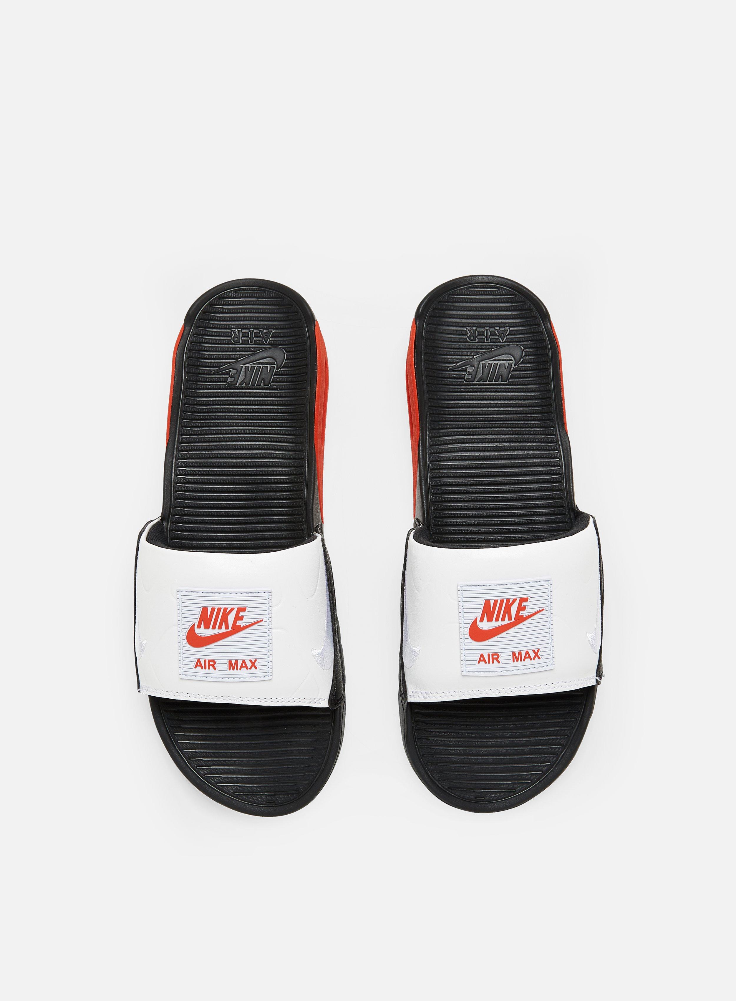 Nike Air Max 90 Slide Men, Black White Chile Red | Graffitishop