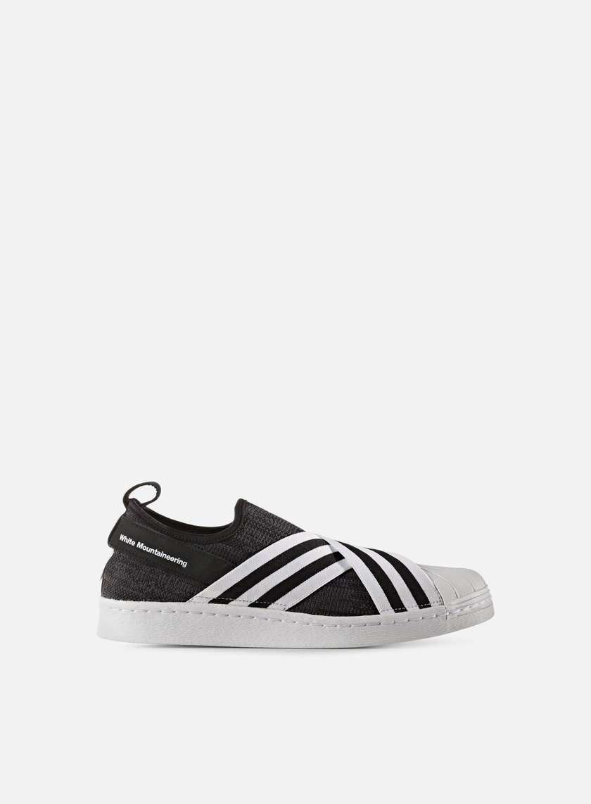 Adidas by White Mountaineering - WM Superstar Slip On Primeknit, Black/White