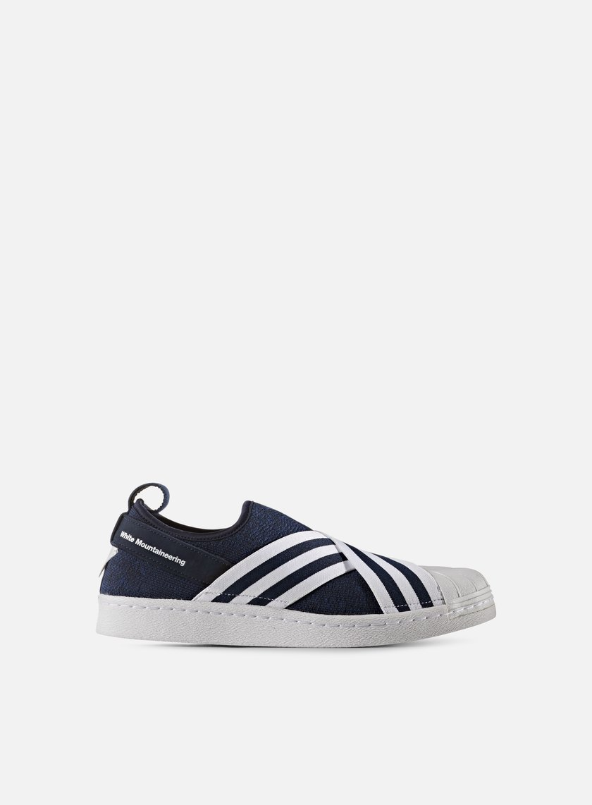 Adidas by White Mountaineering - WM Superstar Slip On Primeknit, Collegiate Navy/White