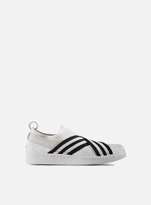 sneakers adidas by white mountaineering wm superstar slip on primeknit white black