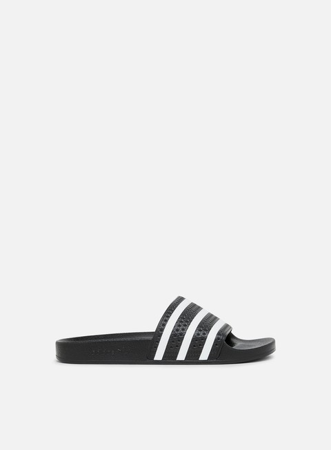sneakers adidas originals adilette core black white core black