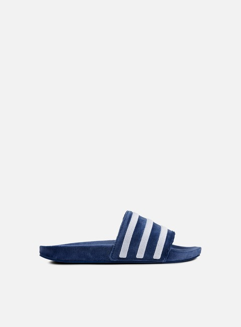 sneakers adidas originals adilette equipment mystery blue white white