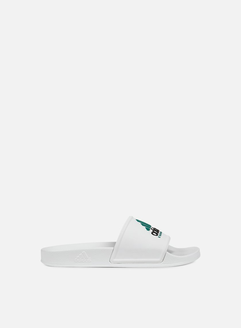 Adidas Originals - Adilette Equipment, White/White/Core Black