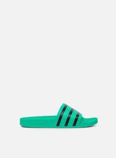 Adidas Originals - Adilette, Hi-Res Green/Core Black/Hi-Res Green