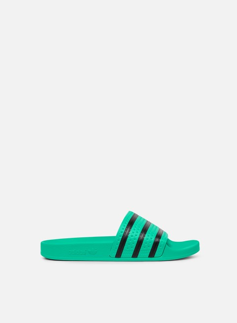 sneakers adidas originals adilette hi res green core black hi res green