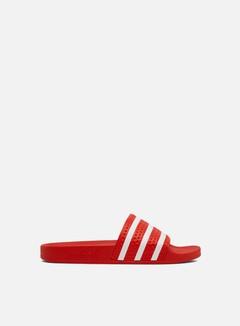 Adidas Originals - Adilette, Lush Red/Cloud White/Lush Red