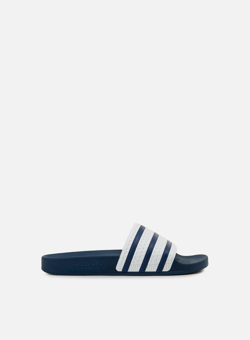 Adidas Originals - Adilette Slides, Adidas Blue/White/Blue