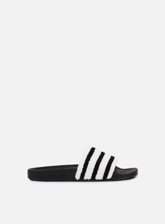 Adidas Originals - Adilette Slides, Core Black/Core Black/White