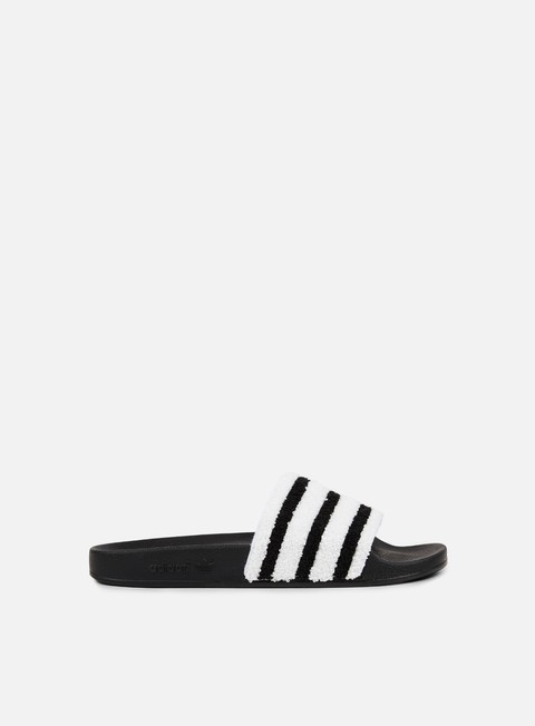 sneakers adidas originals adilette slides core black core black white