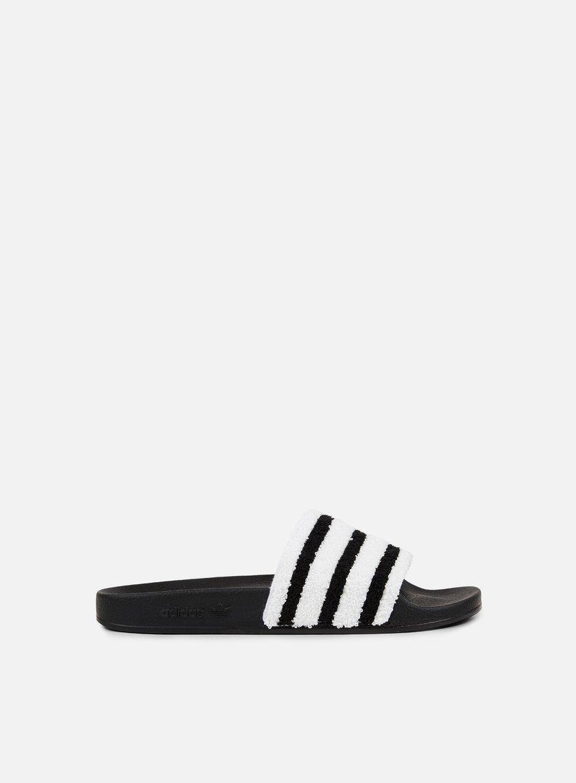 Adidas Originals - Adilette Slides, Core Black/Core Black/White