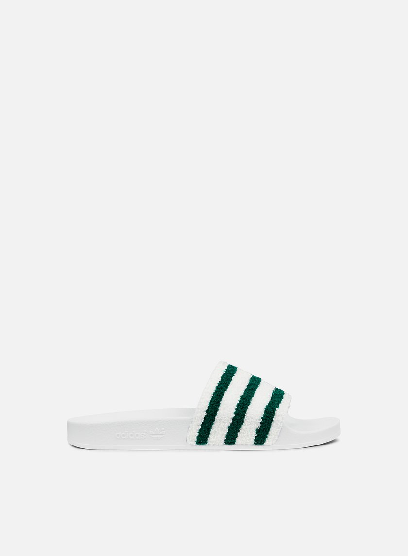 Adidas Originals - Adilette Slides, Running White/Sub Green/Running White