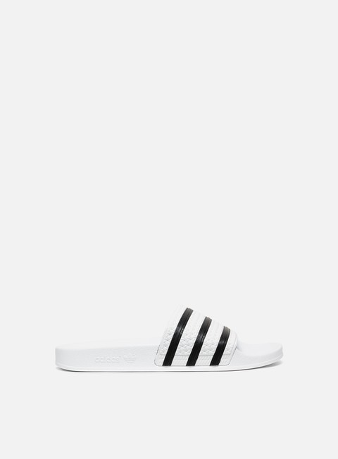 sneakers adidas originals adilette white core black white