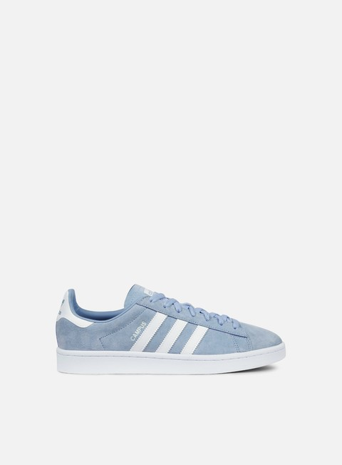 sneakers adidas originals campus ash blue white white