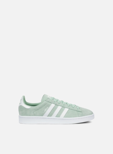 sneakers adidas originals campus ash green white white