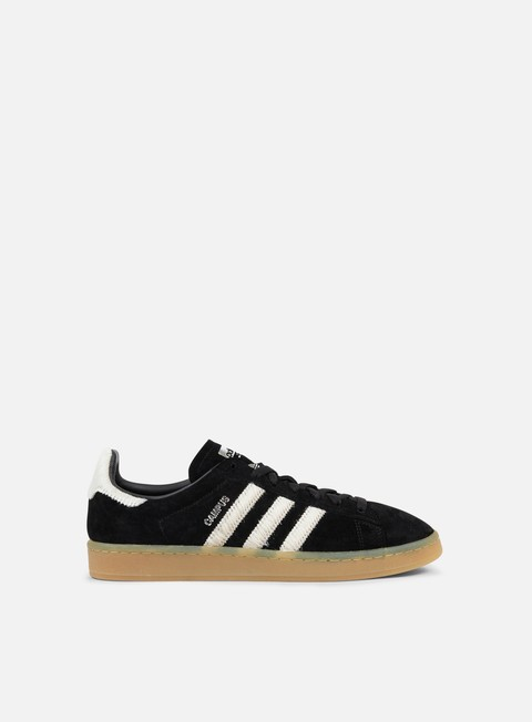 sneakers adidas originals campus core black vintage white silver metallic