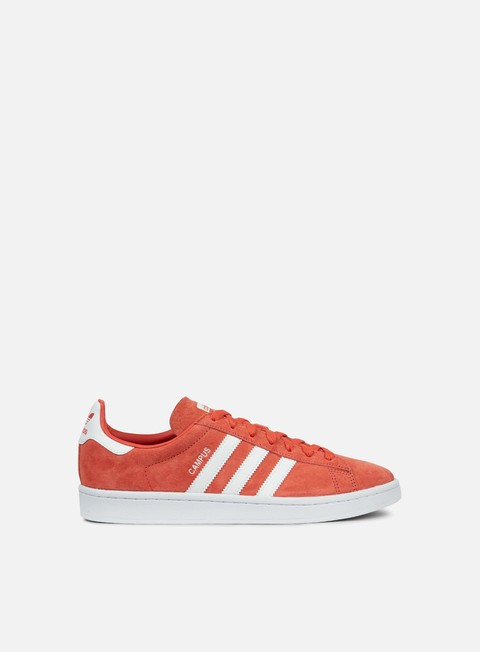 sneakers adidas originals campus trace scarlet white white