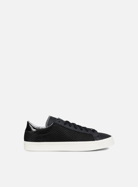 sneakers adidas originals court vantage core black silver metallic chalk
