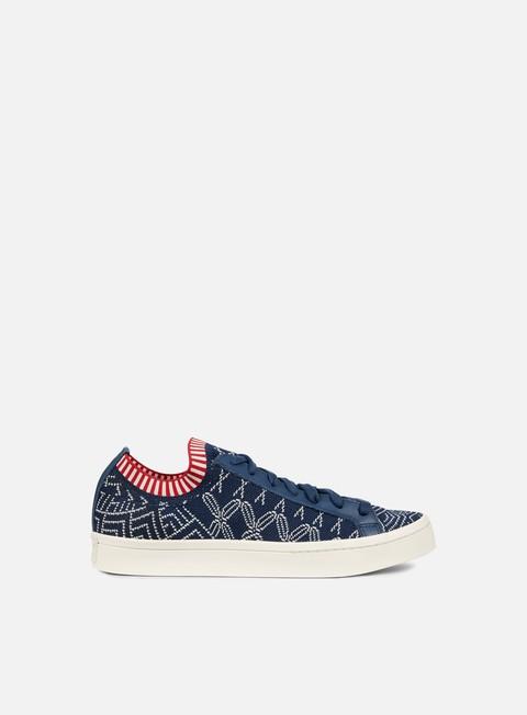 sneakers adidas originals court vantage primeknit mineral blue mineral blue chalk white