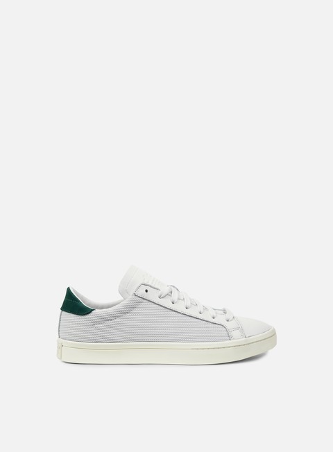 sneakers adidas originals court vantage vitage white chalk white collegiate green