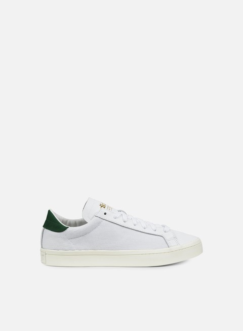 sneakers adidas originals court vantage white white green