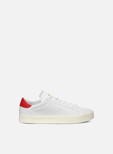 sneakers adidas originals court vantage white white red