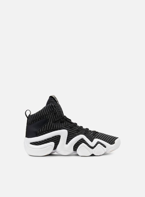 sneakers adidas originals crazy 8 adv primeknit core black silver metallic white