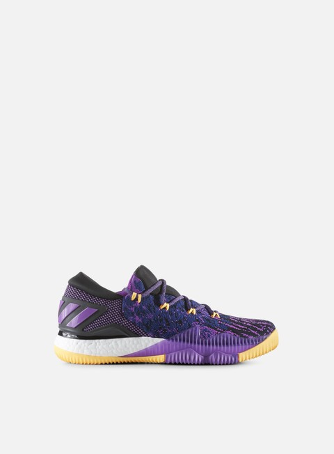 sneakers adidas originals crazy boost low 2016 shock purple solar gold core black