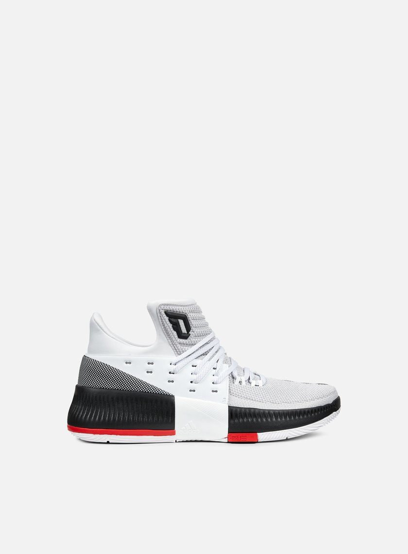 Adidas Originals - Dame Lillard III, White/Core Black/Scarlet