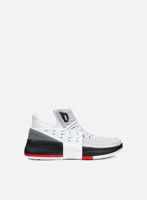 sneakers adidas originals dame lilliard iii white core black scarlet