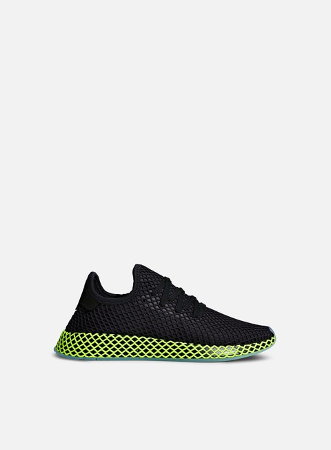 sneakers adidas originals deerupt runner core black core black ash blue s18