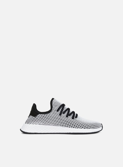 sneakers adidas originals deerupt runner core black core black white