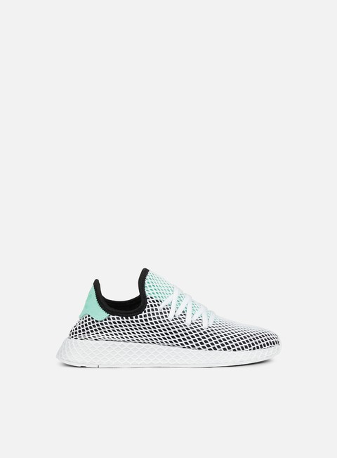 sneakers adidas originals deerupt runner core black easy green white