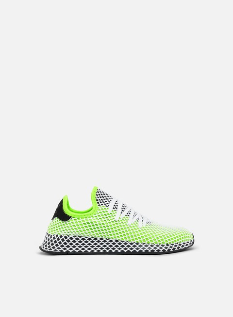 sneakers adidas originals deerupt runner semi solar slime core black core black
