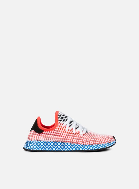 sneakers adidas originals deerupt runner solar red solar red blue bird